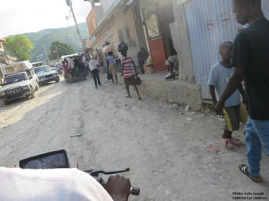 an image of a street in Haiti