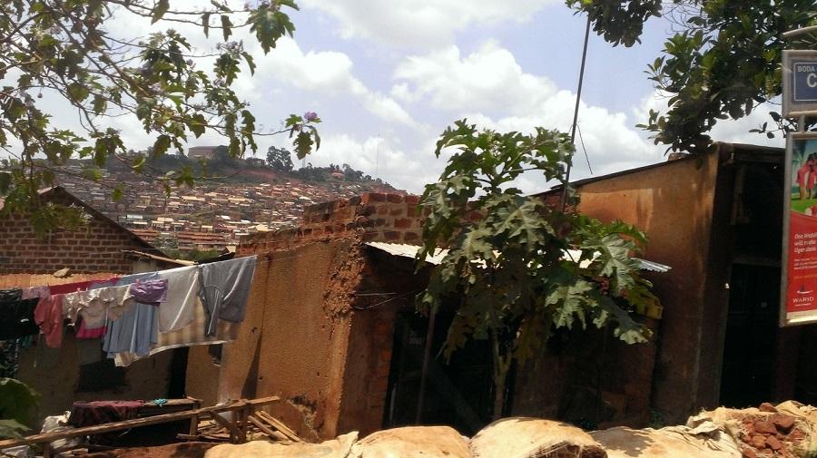 Typical housing on the way to Nkokonjeru.