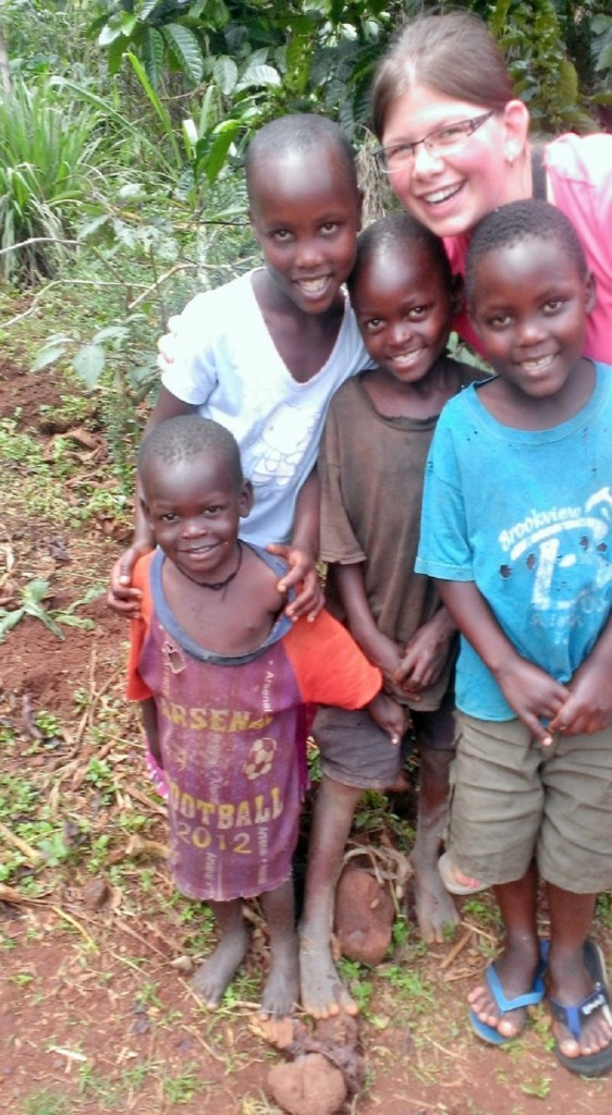 Madeleine with Daudi, center, and his cousins