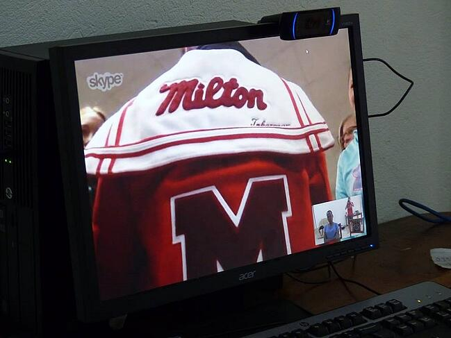 The Letter Jacket of a Milton High School Student in the CARITAS Club