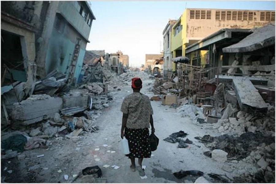 Devastation after the earthquake