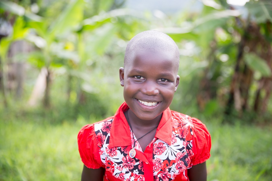 Grace, one of the girls sponsored through CARITAS For Children