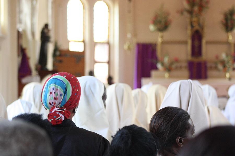 Nuns Uganda, Kenya, and Tanzania, as well as the general public of Nkokonjeru came to celebrate Sr. John Battista's life.