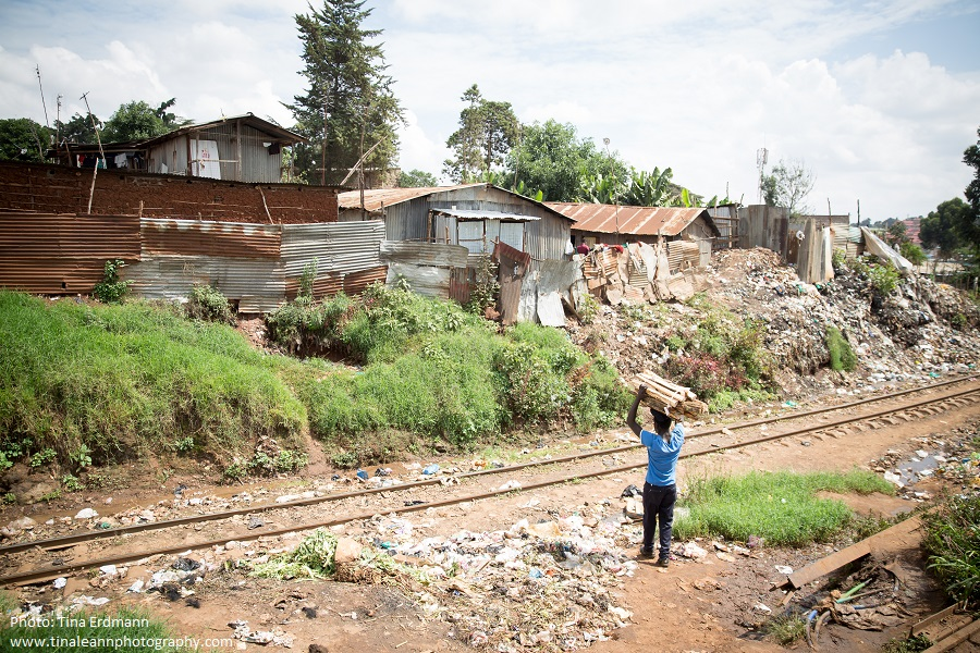 The Kibera slum in Nairobi