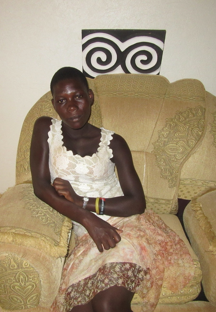 Joan at the CARITAS For Children Learning Center in Nkokonjeru.