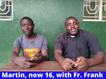 Martin Age 16 with Fr. Frank (1)