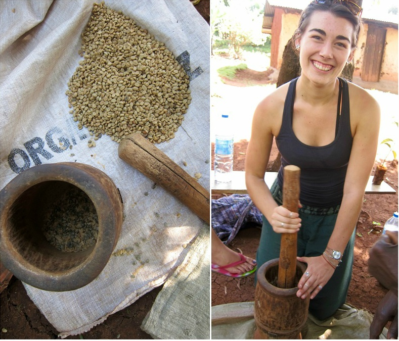 mashing dried coffee beans.jpg